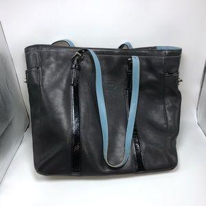 Coach 5787 black leather tote